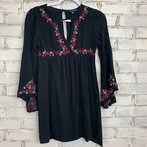 AEO | Floral Embroidered Tunic Dress | Size S
